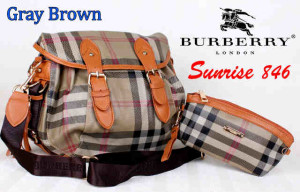 Bag Burberry Sunrise 846 uk~36x16x30. @290rb~Gray Brown
