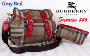 Bag Burberry Sunrise 846 uk~36x16x30. @290rb~Gray Red
