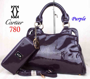 Bag Cartier 708 kulit kilat set uk~40x10x27. ~Purple