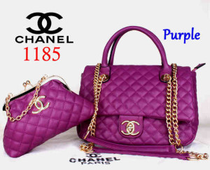 Bag Channel 1185 Super uk~33x13x23. Purple