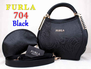 Bag Furla 704 kw super uk~31x13x21. Black