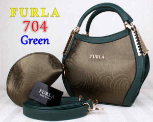 Bag Furla 704 kw super uk~31x13x21. Green