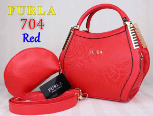 Bag Furla 704 kw super uk~31x13x21. Red