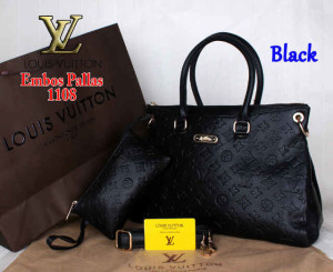 Bag Louis Vuitton Pallas 1108 Super uk~33x14x23. ~Black