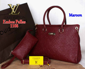 Bag Louis Vuitton Pallas 1108 Super uk~33x14x23. ~Maroon