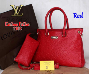 Bag Louis Vuitton Pallas 1108 Super uk~33x14x23. ~Red
