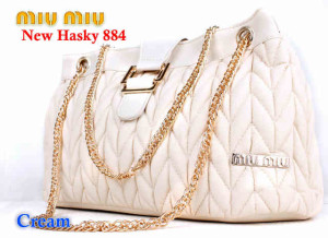 Bag Miumiu New Hasky 884 uk~34x16x20. ~Cream