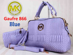 Bag Mk Gaufre 866 uk~36x12x23. ~Blue