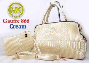 Bag Mk Gaufre 866 uk~36x12x23. ~Cream