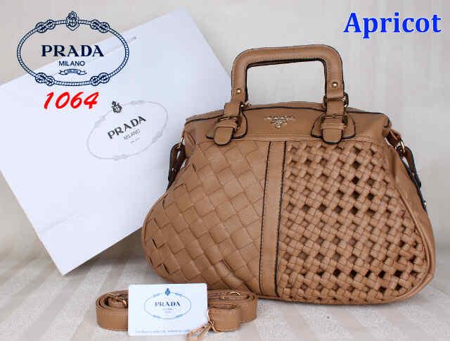 Bag Prada 1064 uk~40x16x31. Apricot - Toko Brand 89f4ae2d6f