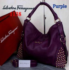 Bag Salvatore Ferragamo 1138 uk~42x15x34. Purple