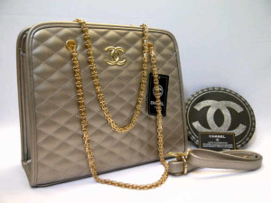 Chanel 8342# Super Uk~32x12x28cm  Silver