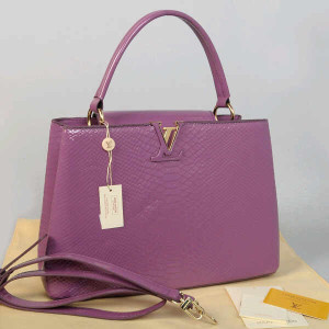Idr 315rb@48872(Lilac) ~ 35x13x23 Louis vuitton capucin snake glossy embossed kwalitas super inside suede