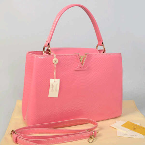 Idr 315rb@48872(Pink) ~ 35x13x23 Louis vuitton capucin snake glossy embossed kwalitas super inside suede