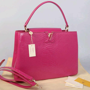 Idr 315rb@48872(Plum) ~ 35x13x23 Louis vuitton capucin snake glossy embossed kwalitas super inside suede