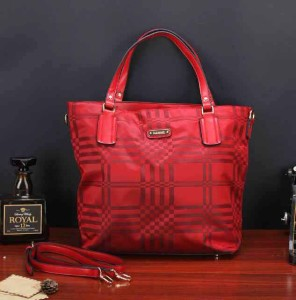 Uk 33x13x35 BURBERRY SHOPPING TOTTE SUPER, MERAH