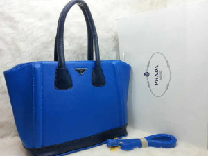 uk 31x14x28  SALSE PRADA TOTE SHOPPER  semi premium 2275 (BIRU)