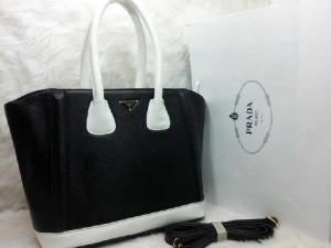 uk 31x14x28  SALSE PRADA TOTE SHOPPER  semi premium 2275 (HITAM)