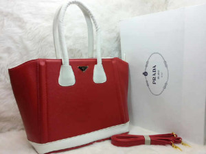 uk 31x14x28  SALSE PRADA TOTE SHOPPER  semi premium 2275 (MERAH)