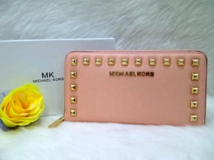 Dompet MK 2668 @205rb uk~19x10cm SUPER bahan taiga wrn pink