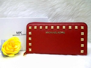Dompet MK 2668 @205rb uk~19x10cm SUPER bahan taiga wrn red