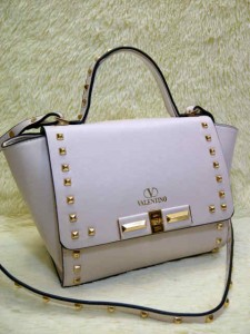 Valentino Stud 9693# Super Uk~23x11x20cm @320rb Beige