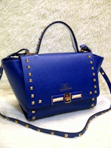 Valentino Stud 9693# Super Uk~23x11x20cm @320rb Biru