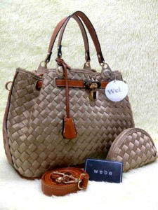 Wb Kd 037# Semor (Free Pouch+Gembok) (Bhn Polyster Blink)  Uk~31x15x25cm @380rb Gold(1)