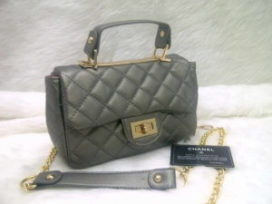 chanel classic mini 8334 @250rb uk~20x8x14cm bahan sintetis wrn grey