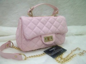 chanel classic mini 8334 @250rb uk~20x8x14cm bahan sintetis wrn soft pink