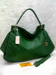 LV arsty embos 40249 @305rb uk~45x18x32cm bahan sintetis SUPER wrn green