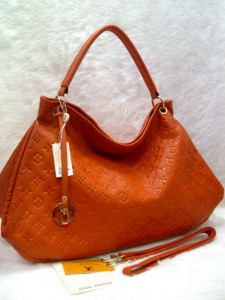 LV arsty embos 40249 @305rb uk~45x18x32cm bahan sintetis SUPER wrn orange