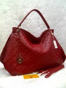 LV arsty embos 40249 @305rb uk~45x18x32cm bahan sintetis SUPER wrn red