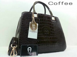 Idr@295 - Aigner montaigne croco glossy A3341YS super uk 33x15x25cm (grey)(1)