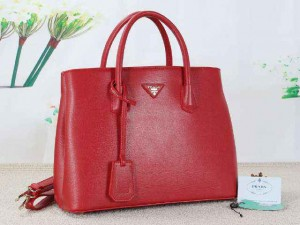 PRADA 289 uk 35x16x27cm bahan NEWEST TAIGA kualitas SEMIPREMIUm (red)